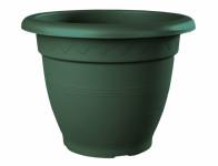 Květník LINTEO plastový tmavě zelený 20x16cm