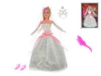 Panenka nevěsta kloubová 29 cm s doplňky
