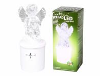 Lampička hřbitovní ANDĚL LED 270denní blikající d6x15cm