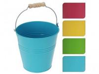 květináč dekorační 12,2x12,5cm plech - mix barev