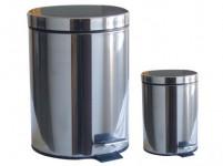 koš odpadkový nášlapný 20l+3l kulatý nerez, s vložkou plastový