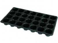Sadbovač MINI JP plastový černý d6cm 28ks