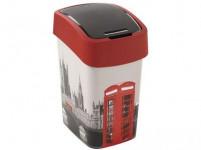 koš odpadkový 25l FLIP LONDON s víkem plastový