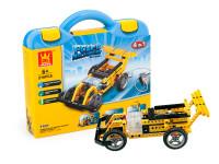 Elektronická stavebnice 4v1 Wange - závodní auto, traktor, automatické kleště a basketbalový koš