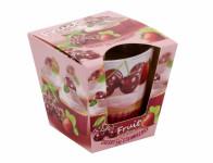 Svíčka ve skle FRUIT MUFFINS třešně a jahody 115g