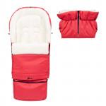 Set - rostoucí fusak 3v1 Arctic wool a rukávník, ovčí vlna, světle červený, Cuculo