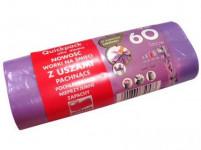 pytle na odpadky s uchy 60l (18ks) 60x72cm s aroma LEVANDULE 10µ
