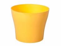 Obal na květník TULIPAN plast žlutý lesklý d17x15cm