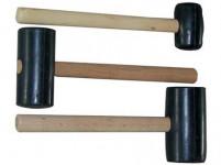 palička gumová 1000g, 75mm, dřevěná rukojeť