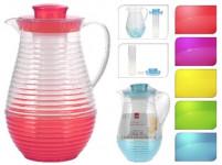 džbánek 2l s chlazením, víčko, plastový - mix barev