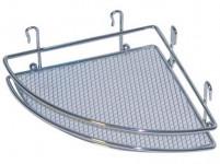 polička rohová (mřížky) 18x18x5cm Cr 291635