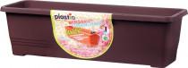 Plastia truhlík samozavlažovací Bergamot - čokoládový 50 cm