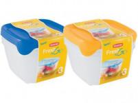 dóza FRESH&GO čtvercová 1,2l plastová (3ks)