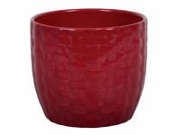 Obal na květník KIRUNA keramický červený d15x13cm