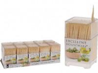 párátka kulatá oboustr. bambus (450ks) + plastový box čtverc.
