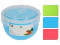 miska 1l s víkem plastová - mix barev