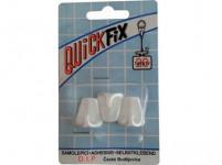 háček qf samolepící lichoběžník plastový, BÍ (3ks) 6539